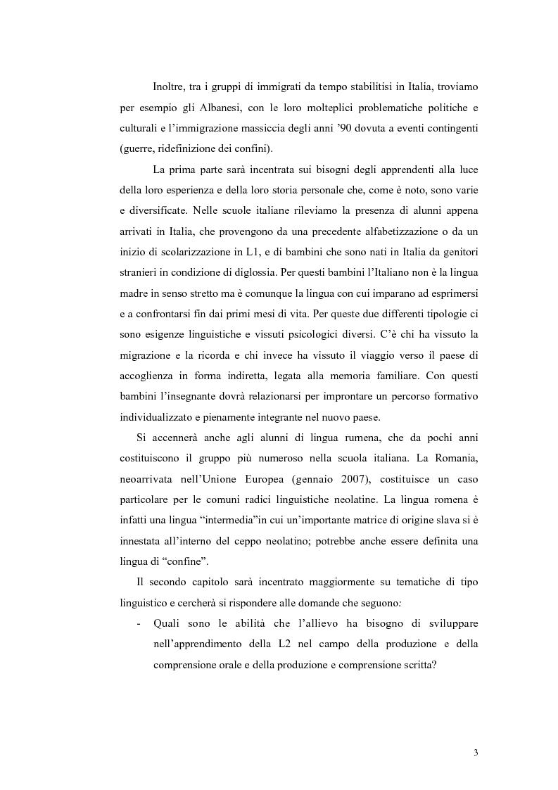 Anteprima della tesi: Insegnamento dell'italiano L2 nella scuola primaria: metodologie, progetti e applicazioni, Pagina 3