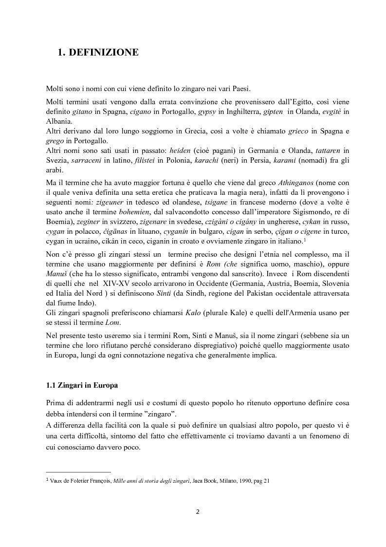 Anteprima della tesi: I Figli del vento: storia e cultura degli zingari, Pagina 2