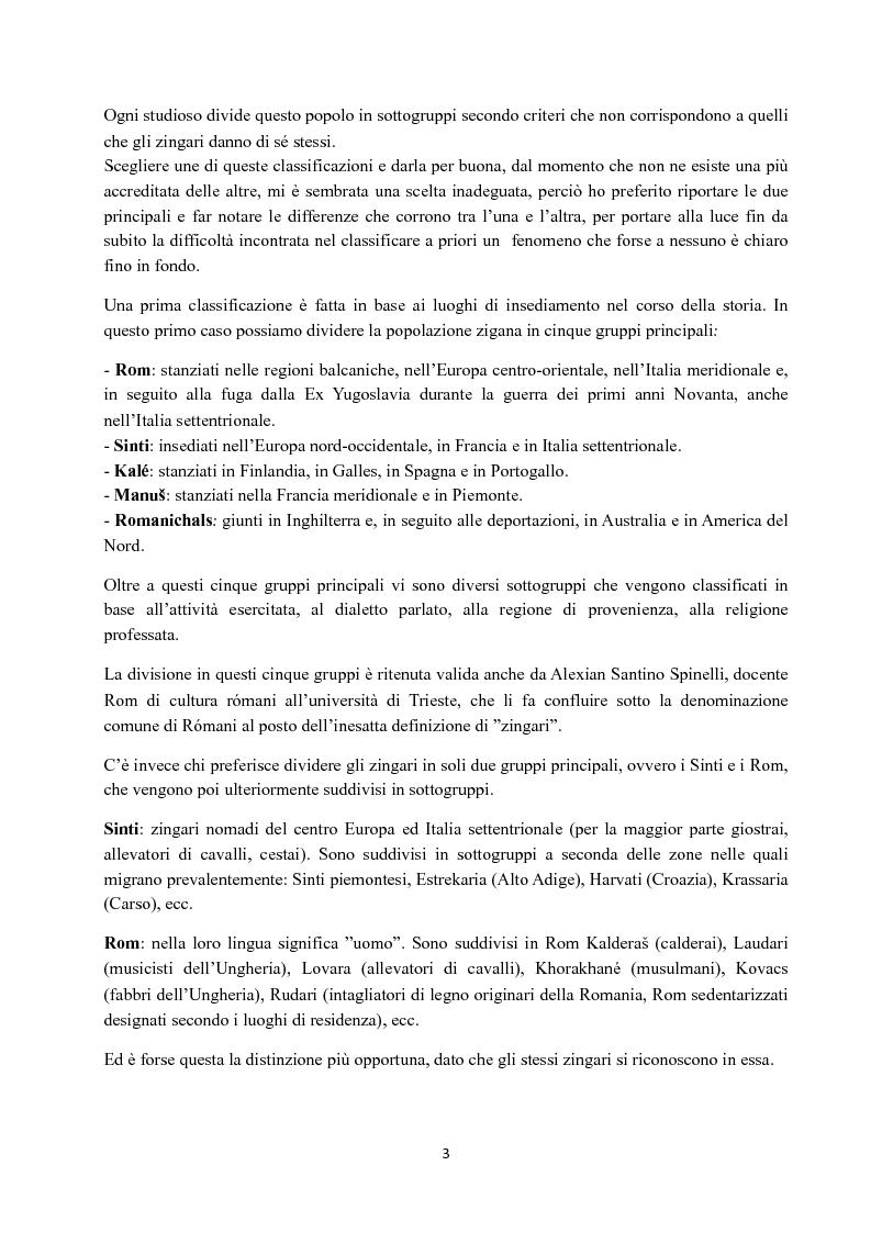 Anteprima della tesi: I Figli del vento: storia e cultura degli zingari, Pagina 3
