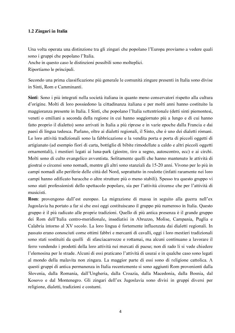 Anteprima della tesi: I Figli del vento: storia e cultura degli zingari, Pagina 4
