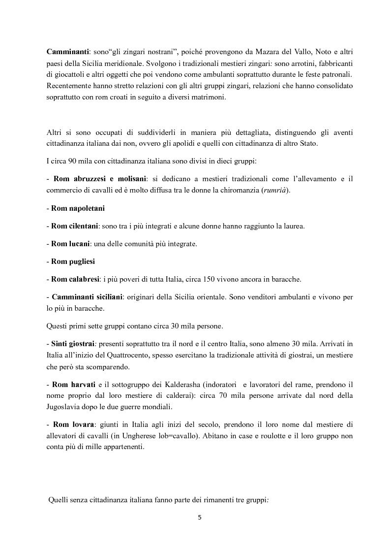 Anteprima della tesi: I Figli del vento: storia e cultura degli zingari, Pagina 5