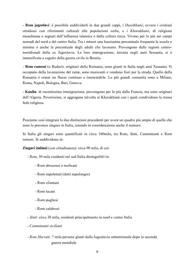 Anteprima della tesi: I Figli del vento: storia e cultura degli zingari, Pagina 6