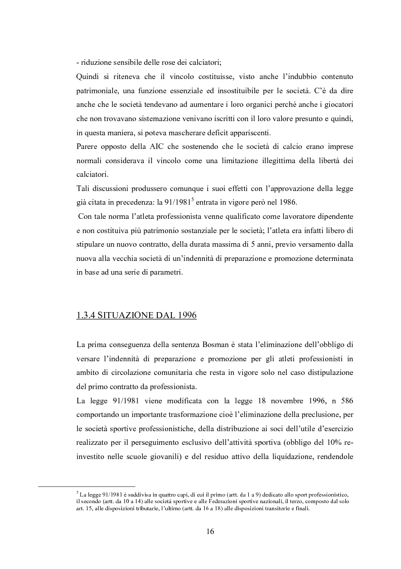 Anteprima della tesi: Profili contabili delle società calcistiche. Quale relazione tra successo sportivo e successo economico?, Pagina 10