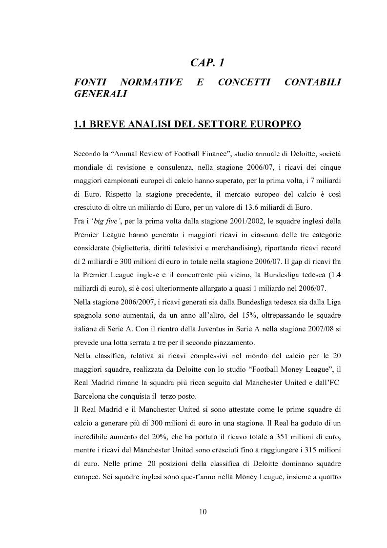Anteprima della tesi: Profili contabili delle società calcistiche. Quale relazione tra successo sportivo e successo economico?, Pagina 4