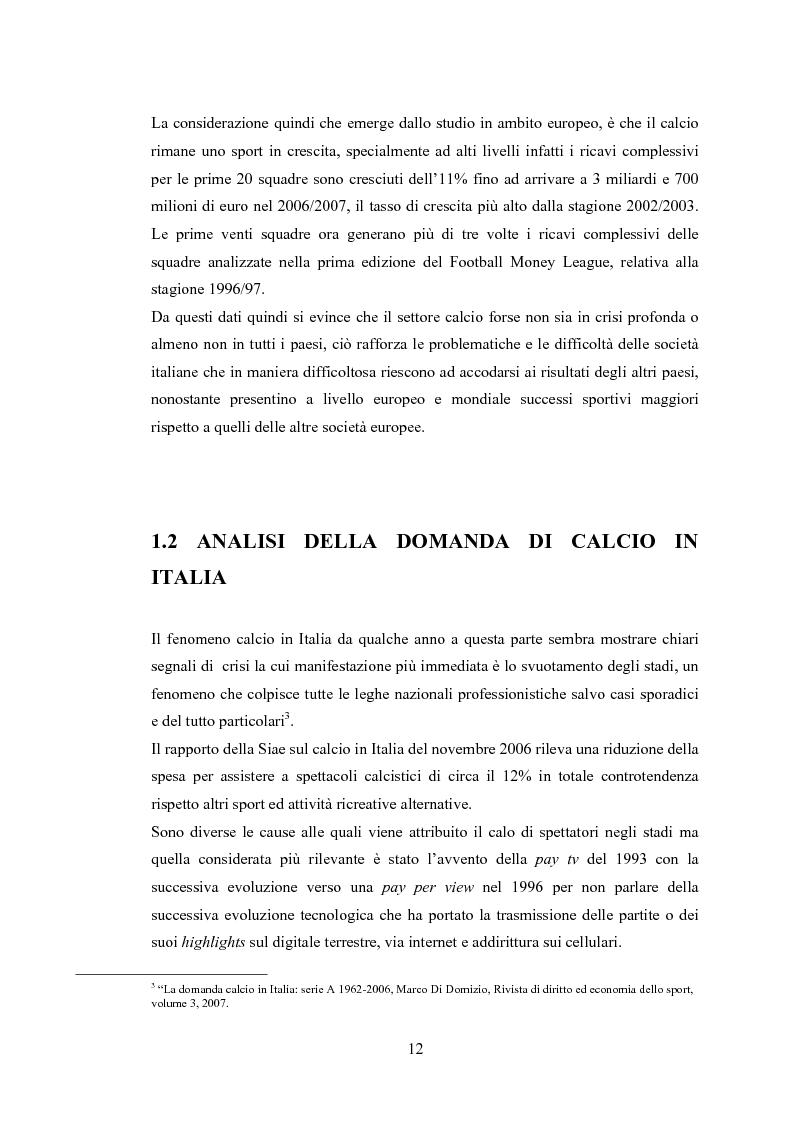 Anteprima della tesi: Profili contabili delle società calcistiche. Quale relazione tra successo sportivo e successo economico?, Pagina 6