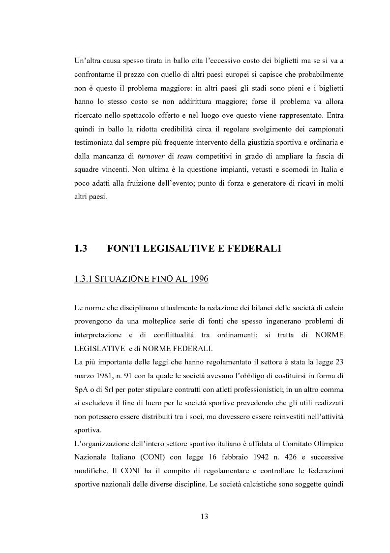 Anteprima della tesi: Profili contabili delle società calcistiche. Quale relazione tra successo sportivo e successo economico?, Pagina 7