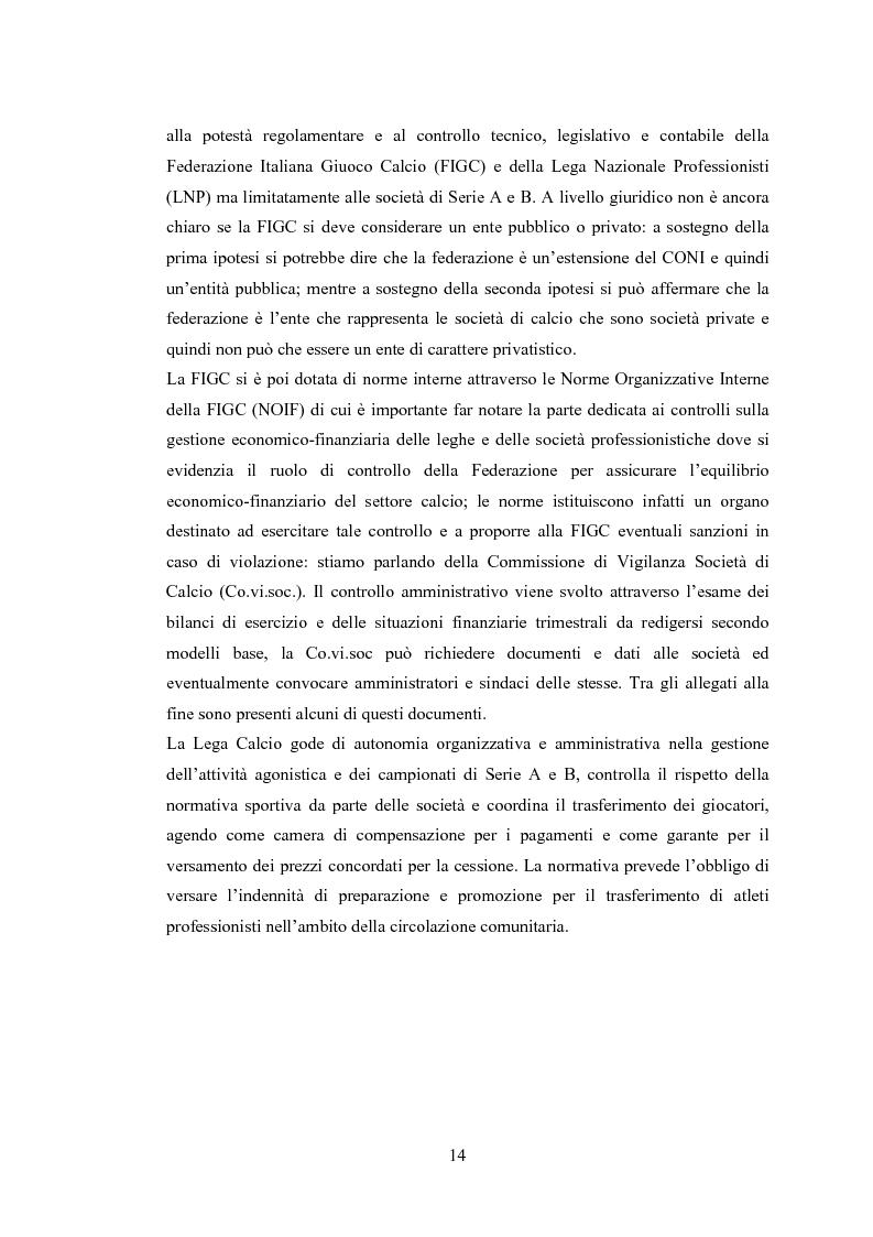 Anteprima della tesi: Profili contabili delle società calcistiche. Quale relazione tra successo sportivo e successo economico?, Pagina 8