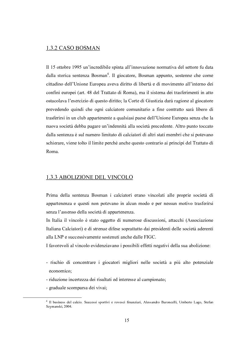 Anteprima della tesi: Profili contabili delle società calcistiche. Quale relazione tra successo sportivo e successo economico?, Pagina 9