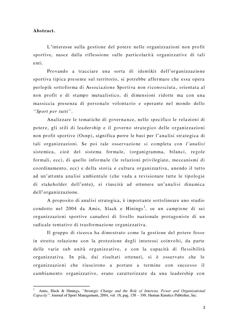 Anteprima della tesi: L'analisi del potere nelle organizzazioni non profit, Pagina 1