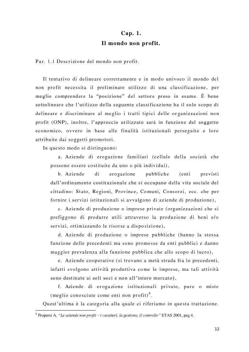 Anteprima della tesi: L'analisi del potere nelle organizzazioni non profit, Pagina 10