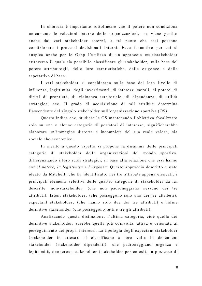 Anteprima della tesi: L'analisi del potere nelle organizzazioni non profit, Pagina 6