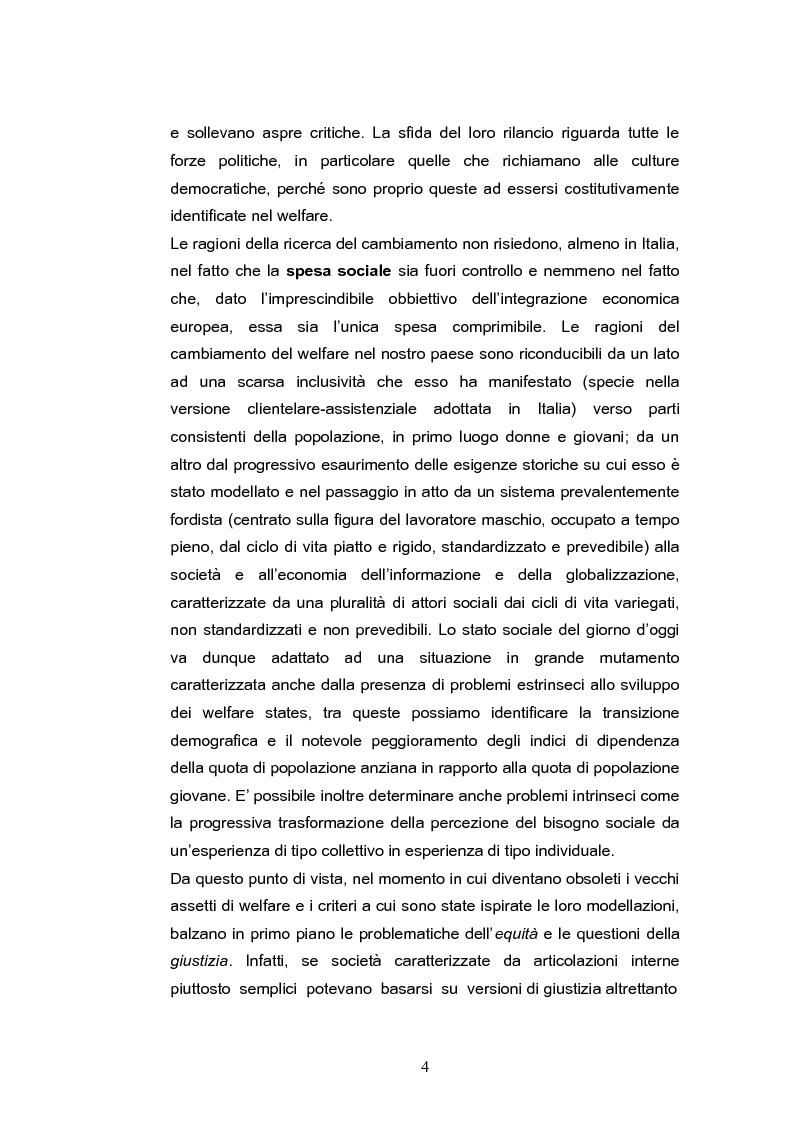 Anteprima della tesi: L'evoluzione della spesa per assistenza e previdenza in Italia, Pagina 2
