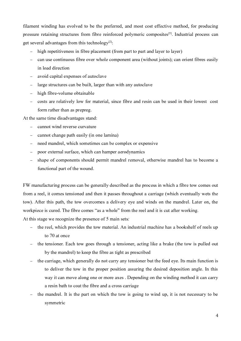 Anteprima della tesi: Design of a prototype device for filament winding of pressure vessels, Pagina 3