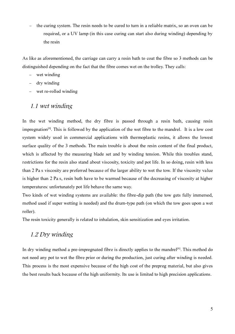 Anteprima della tesi: Design of a prototype device for filament winding of pressure vessels, Pagina 4