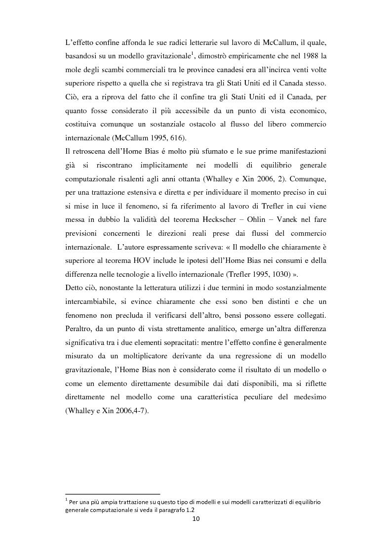 Anteprima della tesi: Home Bias: tra costi, barriere, preferenze del consumatore ed asimmetrie informative, Pagina 2