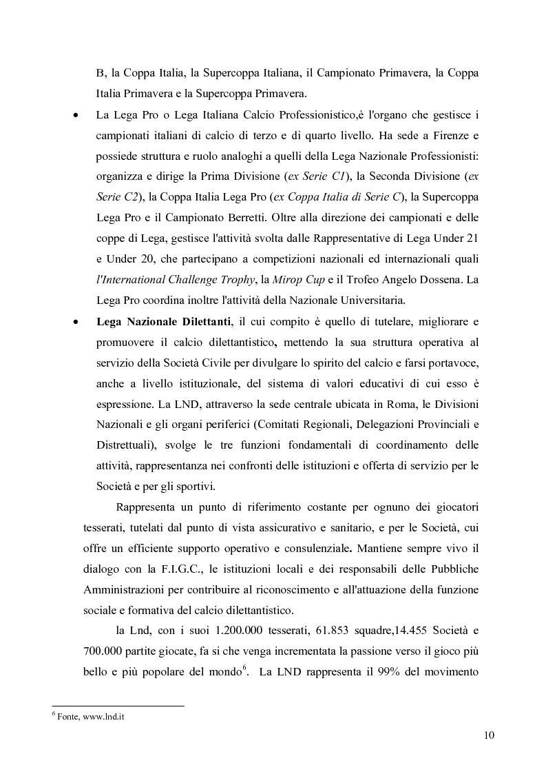 Anteprima della tesi: Il marketing nel pallone... le strategie adottate dall'U.S. Città di Palermo. Analisi e confronto con altre realtà calcistiche italiane, Pagina 10