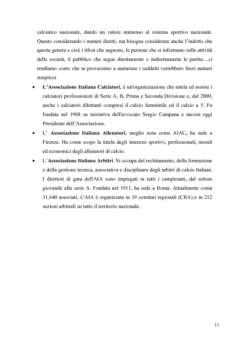 Anteprima della tesi: Il marketing nel pallone... le strategie adottate dall'U.S. Città di Palermo. Analisi e confronto con altre realtà calcistiche italiane, Pagina 11