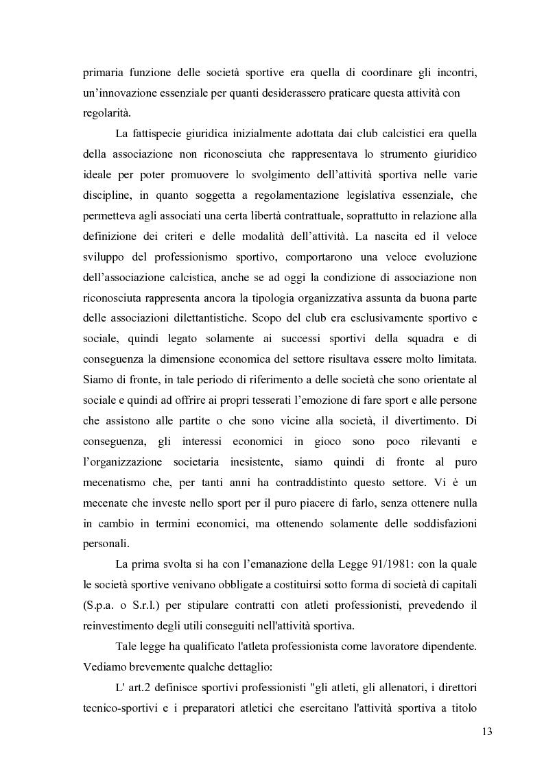 Anteprima della tesi: Il marketing nel pallone... le strategie adottate dall'U.S. Città di Palermo. Analisi e confronto con altre realtà calcistiche italiane, Pagina 13
