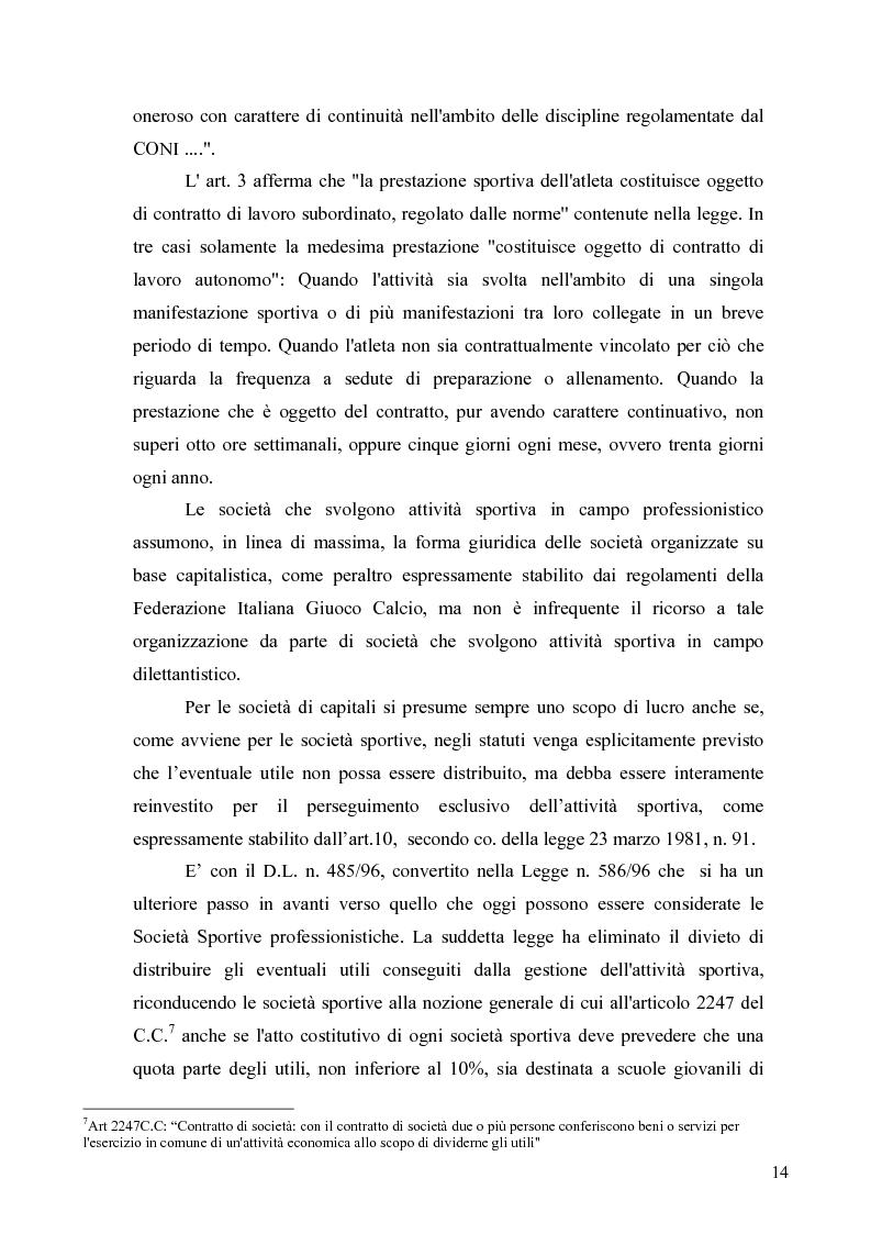Anteprima della tesi: Il marketing nel pallone... le strategie adottate dall'U.S. Città di Palermo. Analisi e confronto con altre realtà calcistiche italiane, Pagina 14