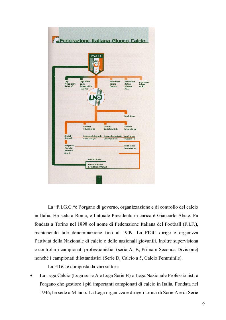 Anteprima della tesi: Il marketing nel pallone... le strategie adottate dall'U.S. Città di Palermo. Analisi e confronto con altre realtà calcistiche italiane, Pagina 9