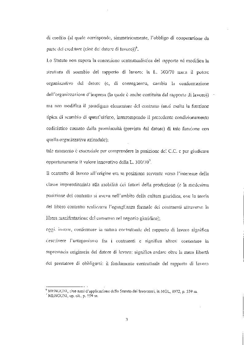 Anteprima della tesi: Legittimità del patto di declassamento in luogo del licenziamento, Pagina 6