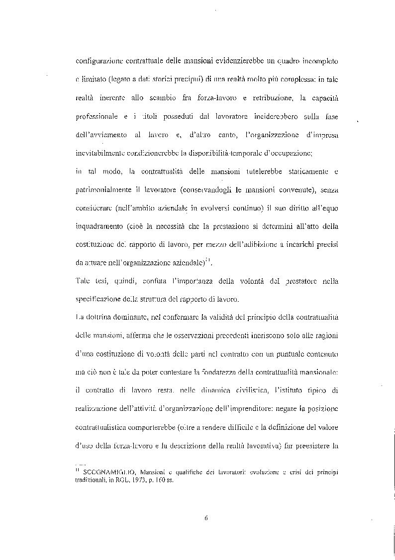 Anteprima della tesi: Legittimità del patto di declassamento in luogo del licenziamento, Pagina 9