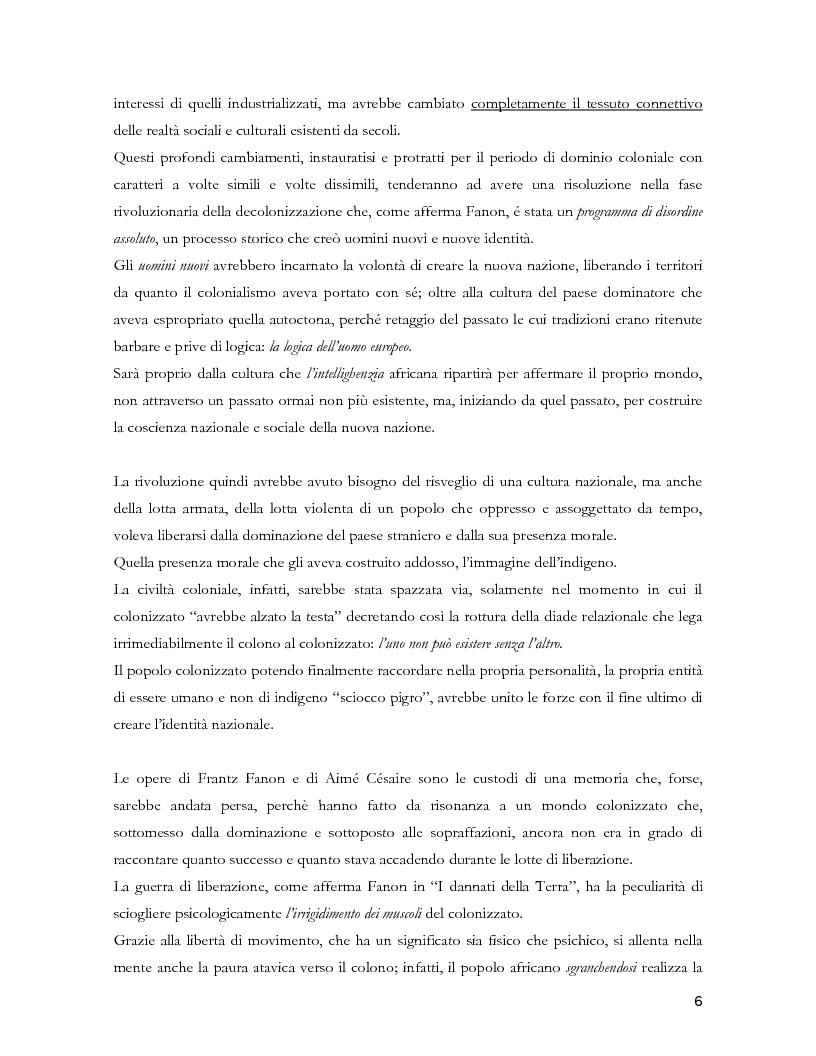 Anteprima della tesi: Colonialismo e alienazione coloniale. Una lettura critica di Frantz Fanon, Pagina 4