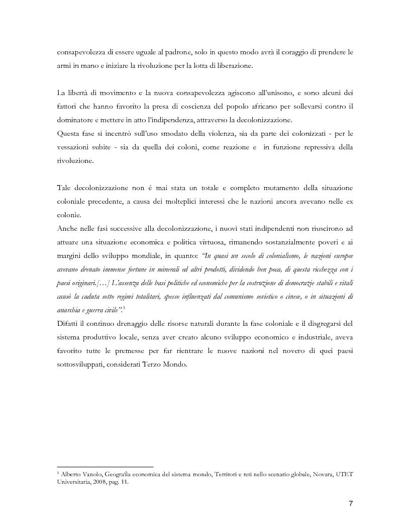Anteprima della tesi: Colonialismo e alienazione coloniale. Una lettura critica di Frantz Fanon, Pagina 5