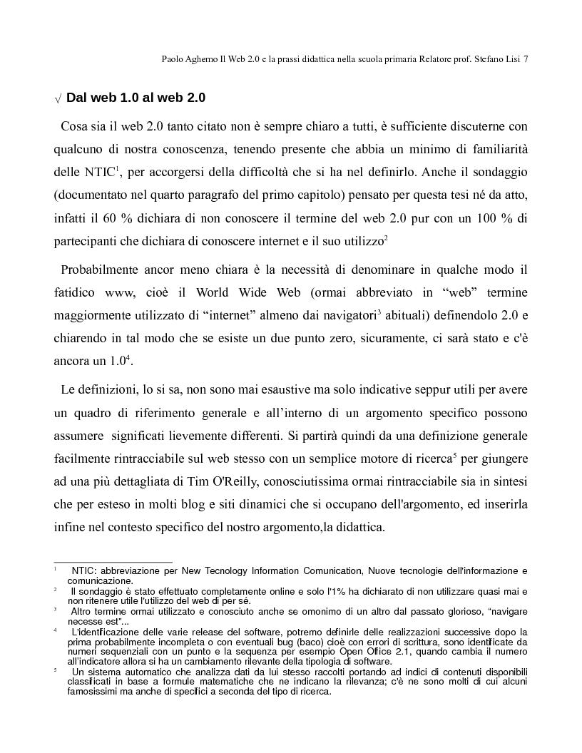 Anteprima della tesi: Il web 2.0 e la prassi didattica nella scuola primaria, Pagina 2