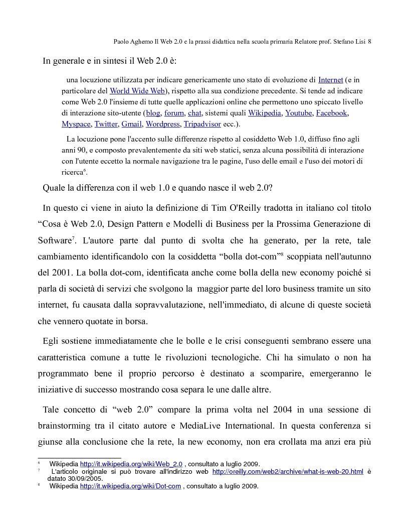 Anteprima della tesi: Il web 2.0 e la prassi didattica nella scuola primaria, Pagina 3