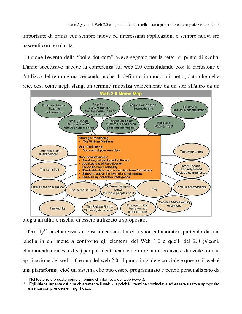 Anteprima della tesi: Il web 2.0 e la prassi didattica nella scuola primaria, Pagina 4