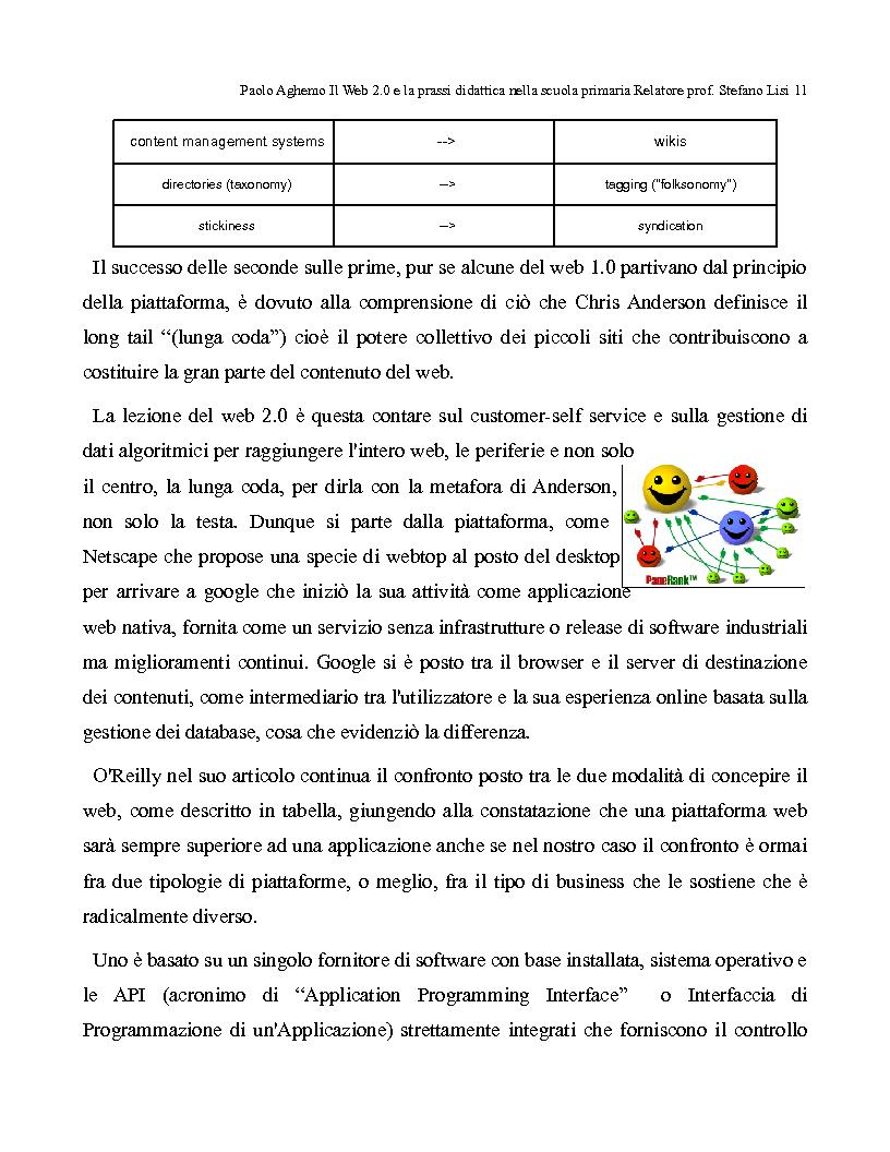 Anteprima della tesi: Il web 2.0 e la prassi didattica nella scuola primaria, Pagina 6