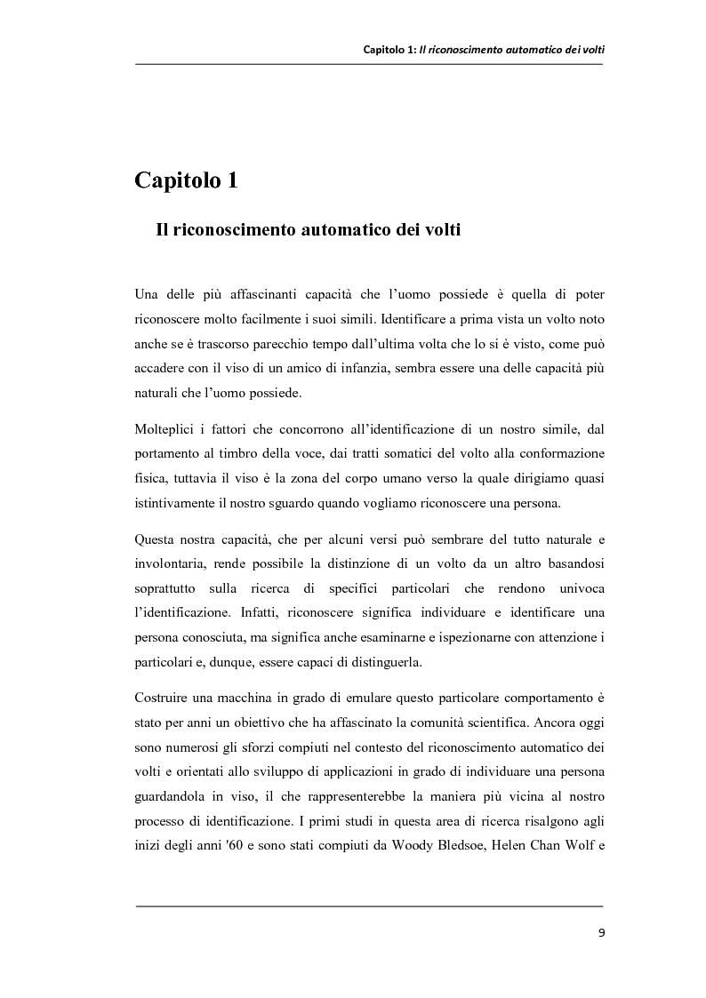 Anteprima della tesi: Un prototipo per il sistema NOMANFACE (NOn-negative MAtrix factorizatioN for FACE recognition), Pagina 3