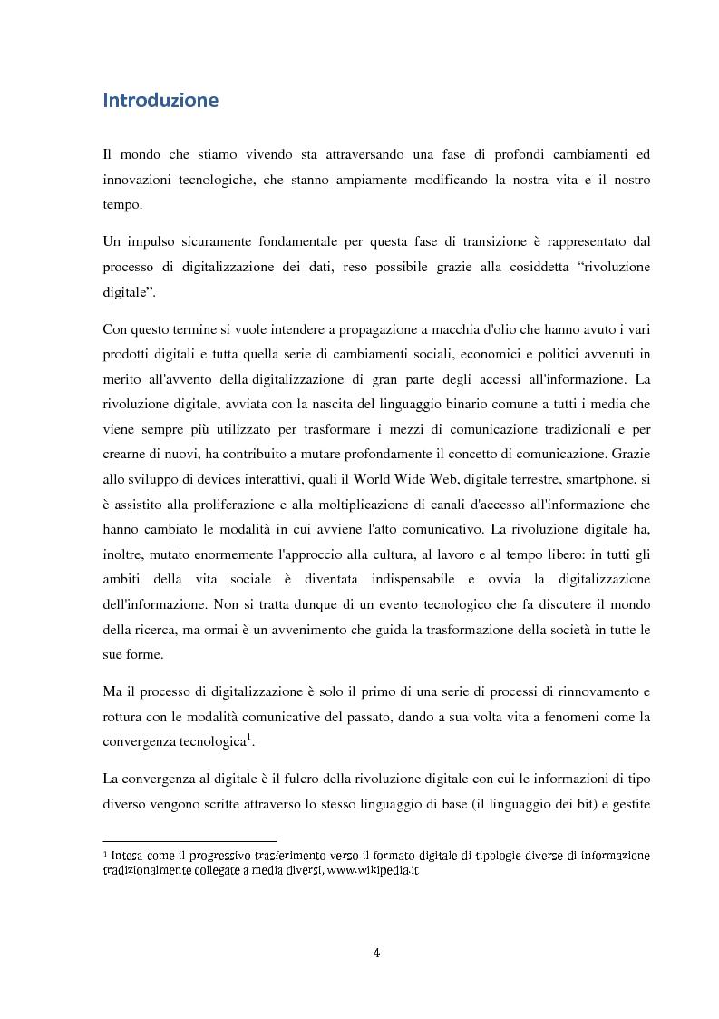 Anteprima della tesi: Sinergie e strategie di riposizionamento dei grandi player tv italiani, Pagina 1