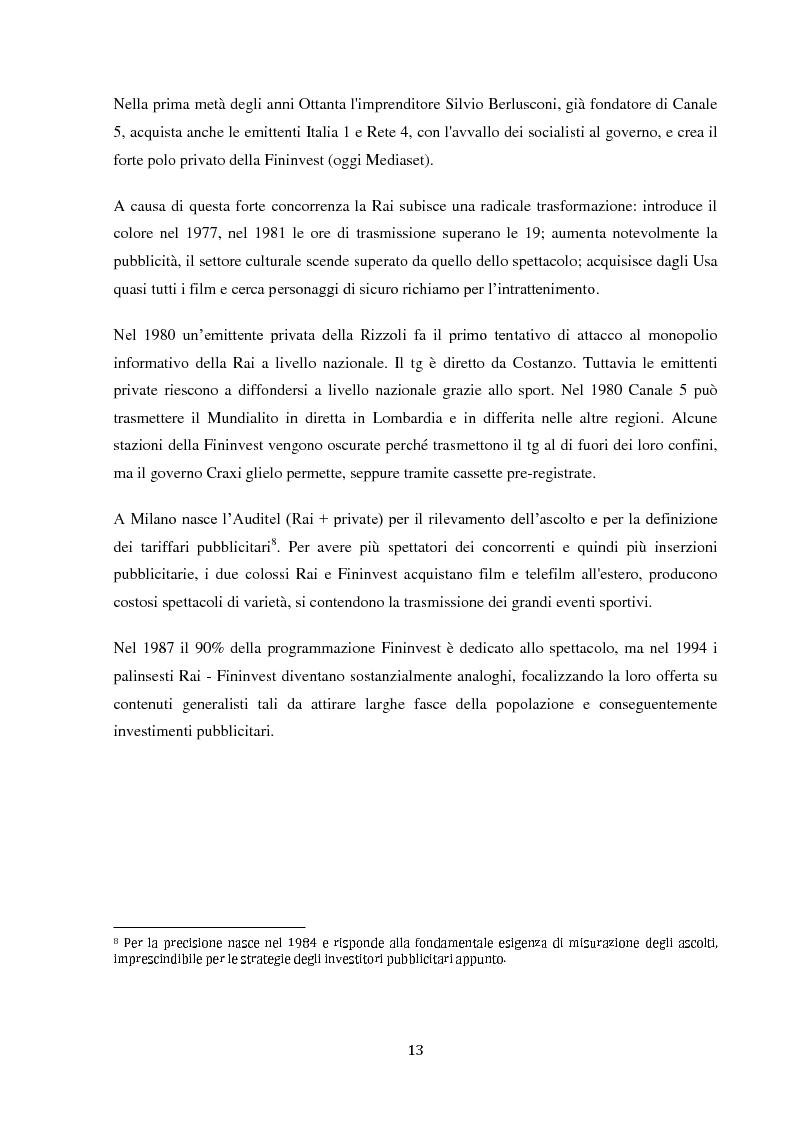 Anteprima della tesi: Sinergie e strategie di riposizionamento dei grandi player tv italiani, Pagina 10