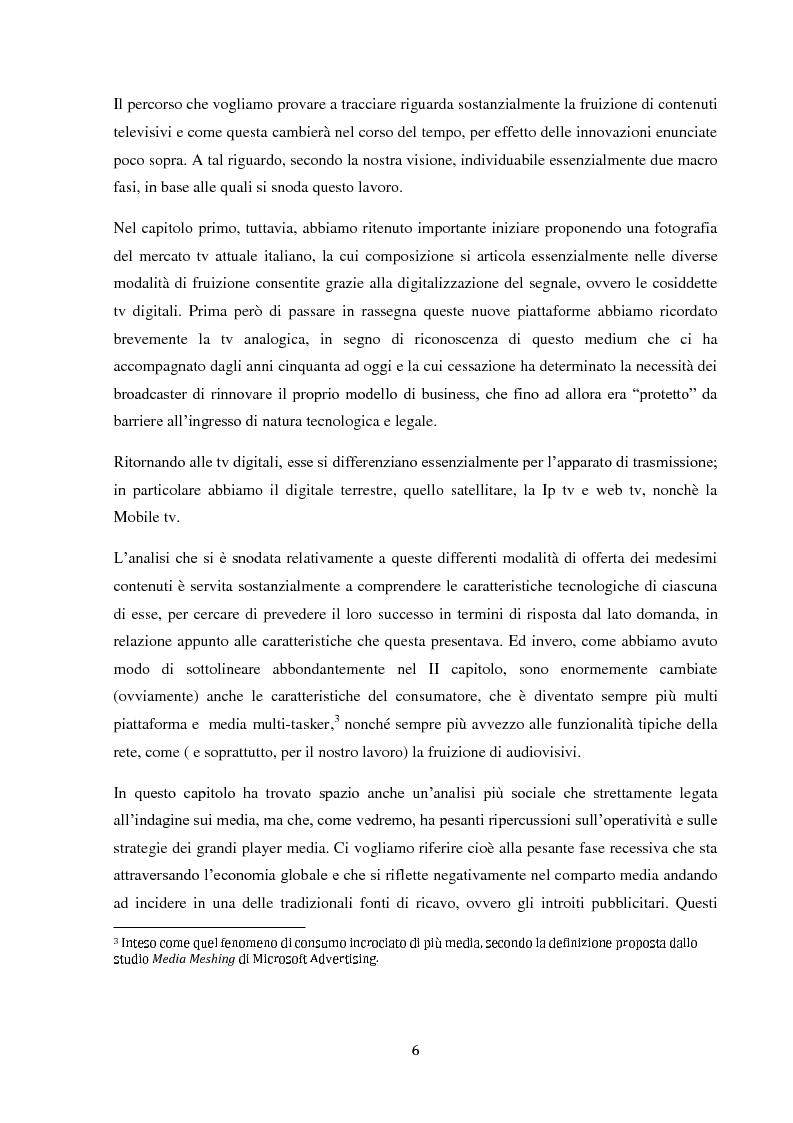 Anteprima della tesi: Sinergie e strategie di riposizionamento dei grandi player tv italiani, Pagina 3