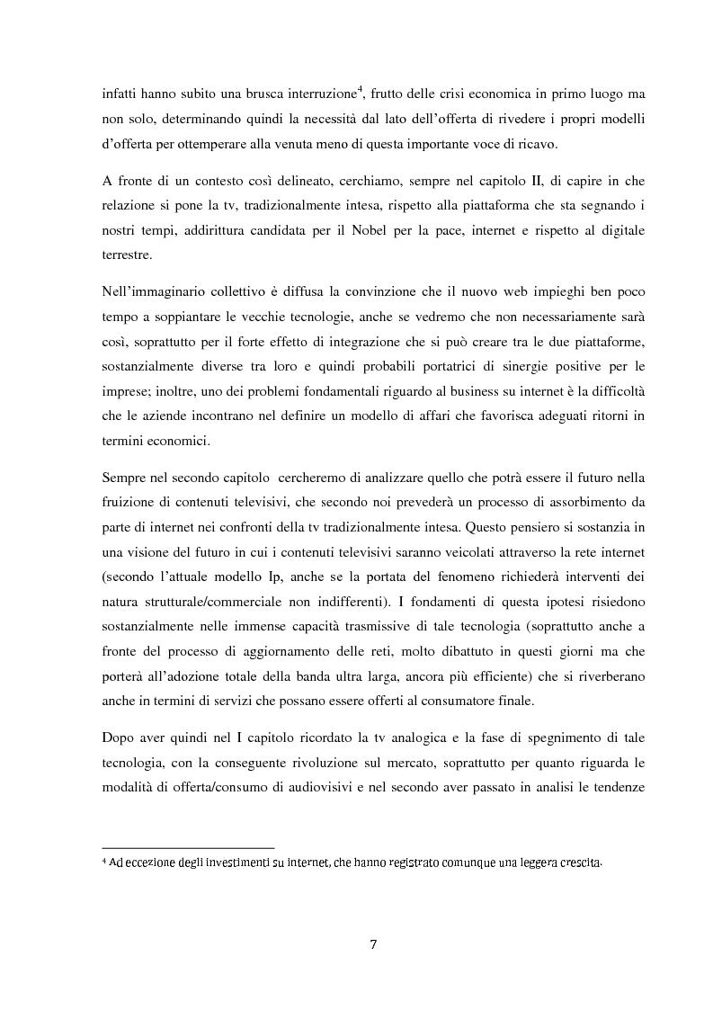 Anteprima della tesi: Sinergie e strategie di riposizionamento dei grandi player tv italiani, Pagina 4