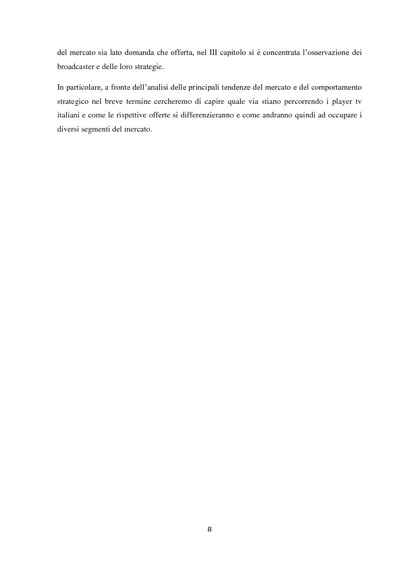 Anteprima della tesi: Sinergie e strategie di riposizionamento dei grandi player tv italiani, Pagina 5