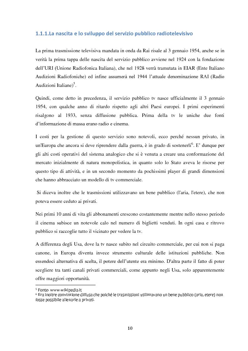 Anteprima della tesi: Sinergie e strategie di riposizionamento dei grandi player tv italiani, Pagina 7