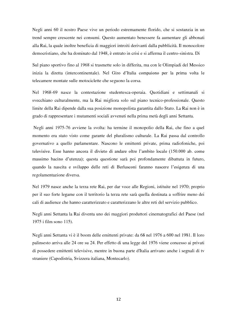 Anteprima della tesi: Sinergie e strategie di riposizionamento dei grandi player tv italiani, Pagina 9
