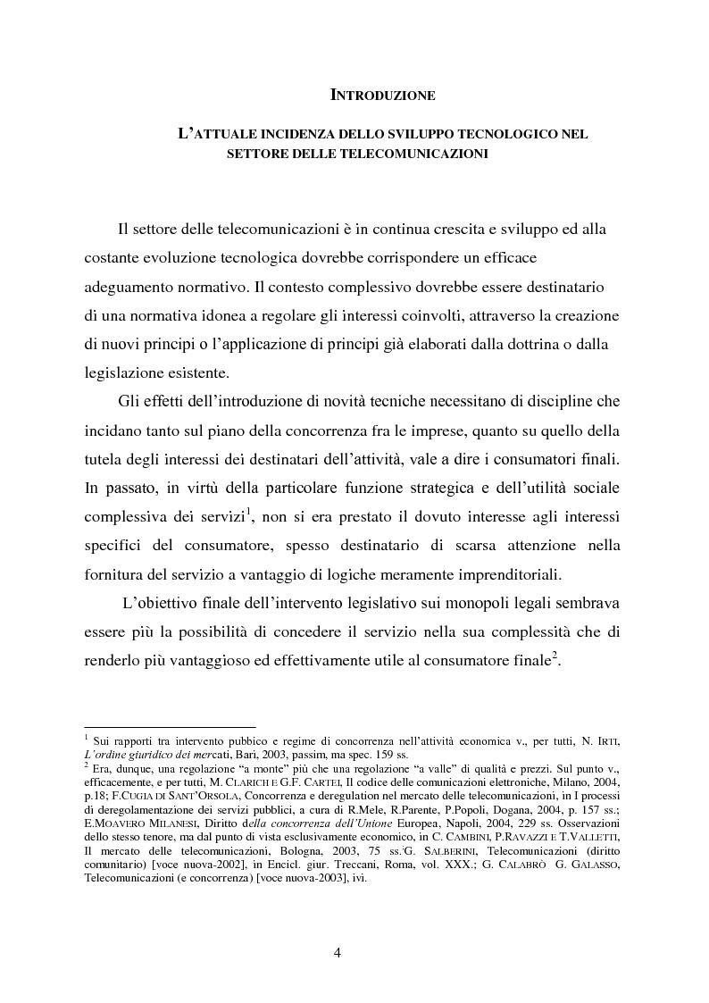 Anteprima della tesi: Innovazione e concorrenza nei mercati delle telecomunicazioni. La separazione delle reti Telecom., Pagina 1