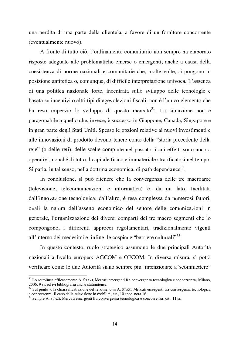 Anteprima della tesi: Innovazione e concorrenza nei mercati delle telecomunicazioni. La separazione delle reti Telecom., Pagina 11