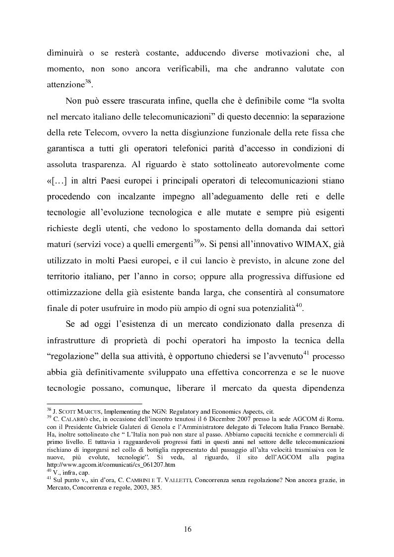 Anteprima della tesi: Innovazione e concorrenza nei mercati delle telecomunicazioni. La separazione delle reti Telecom., Pagina 13
