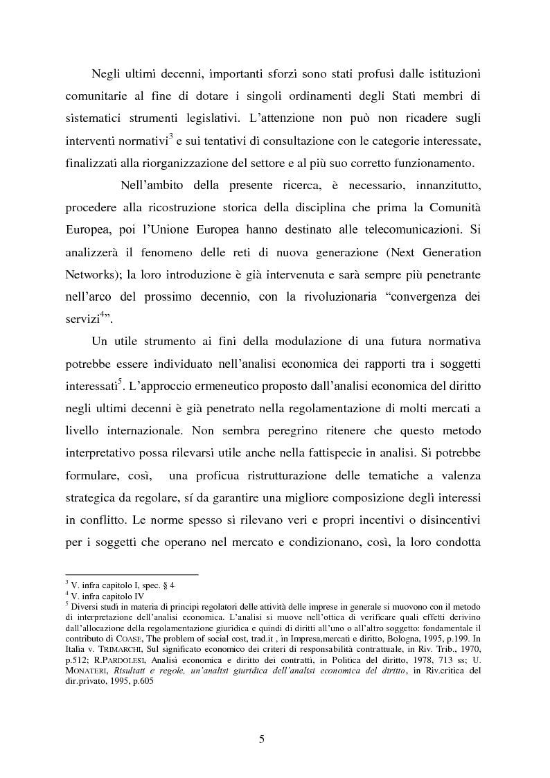Anteprima della tesi: Innovazione e concorrenza nei mercati delle telecomunicazioni. La separazione delle reti Telecom., Pagina 2