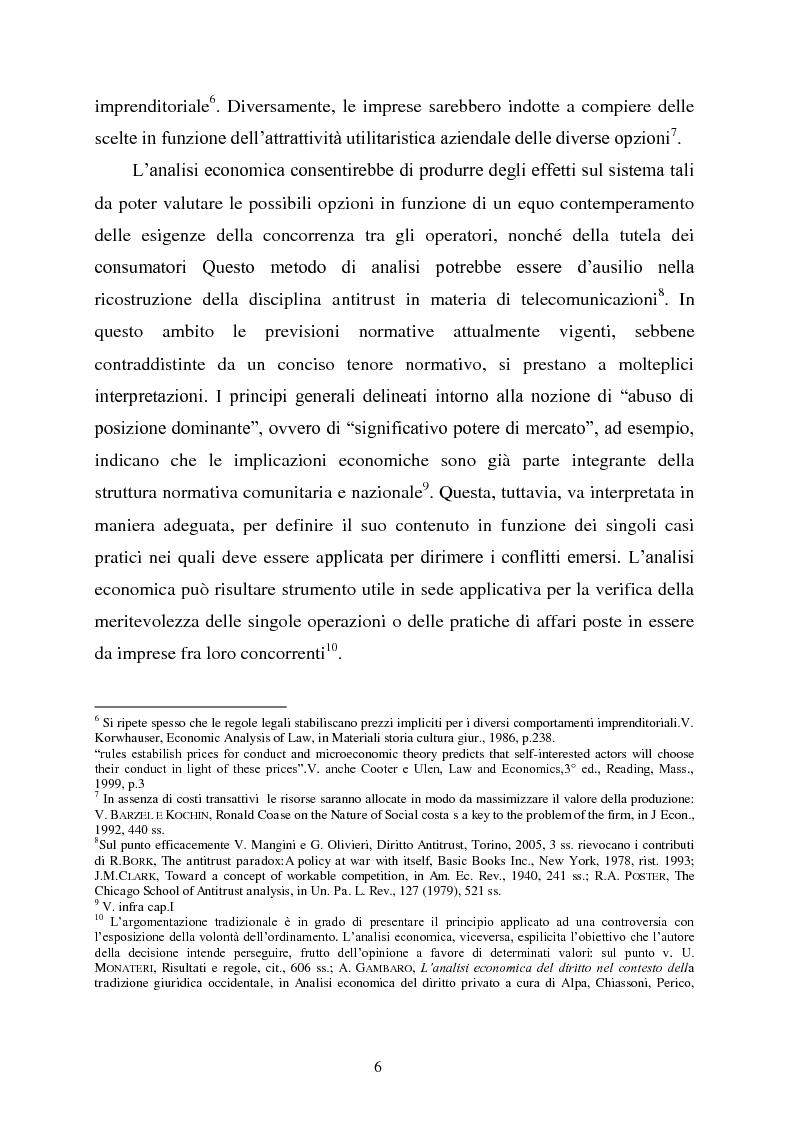 Anteprima della tesi: Innovazione e concorrenza nei mercati delle telecomunicazioni. La separazione delle reti Telecom., Pagina 3