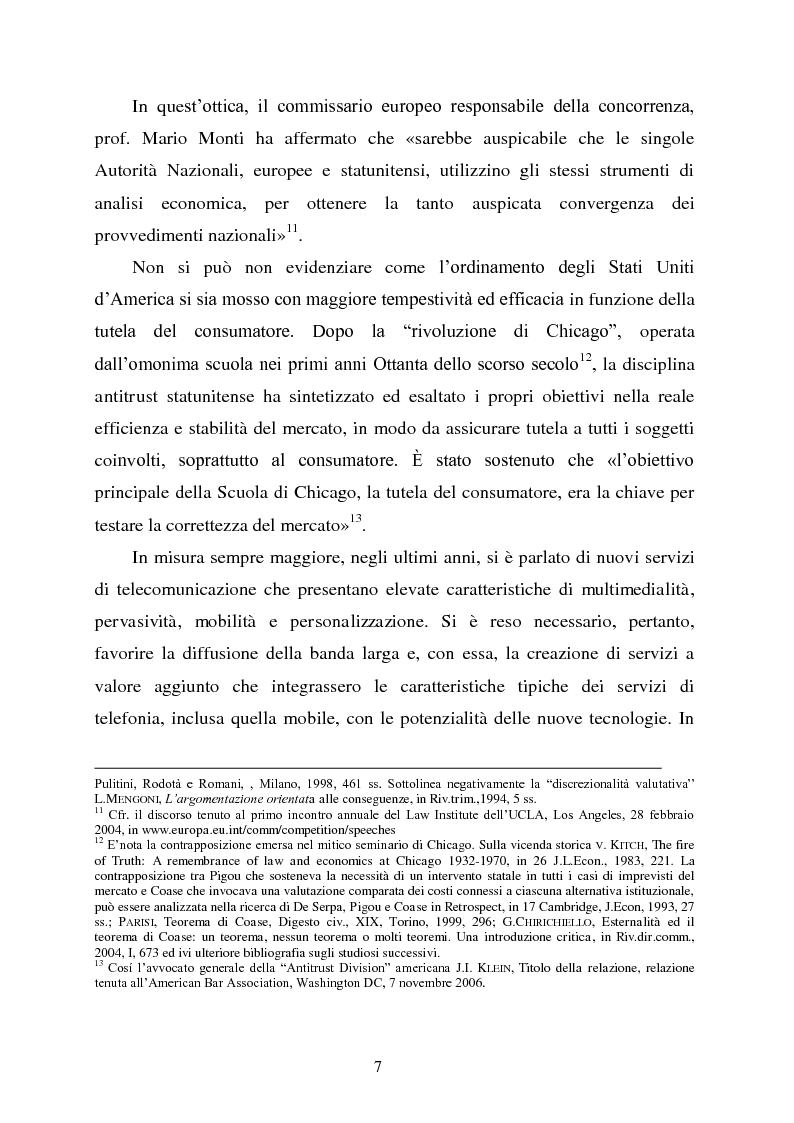 Anteprima della tesi: Innovazione e concorrenza nei mercati delle telecomunicazioni. La separazione delle reti Telecom., Pagina 4