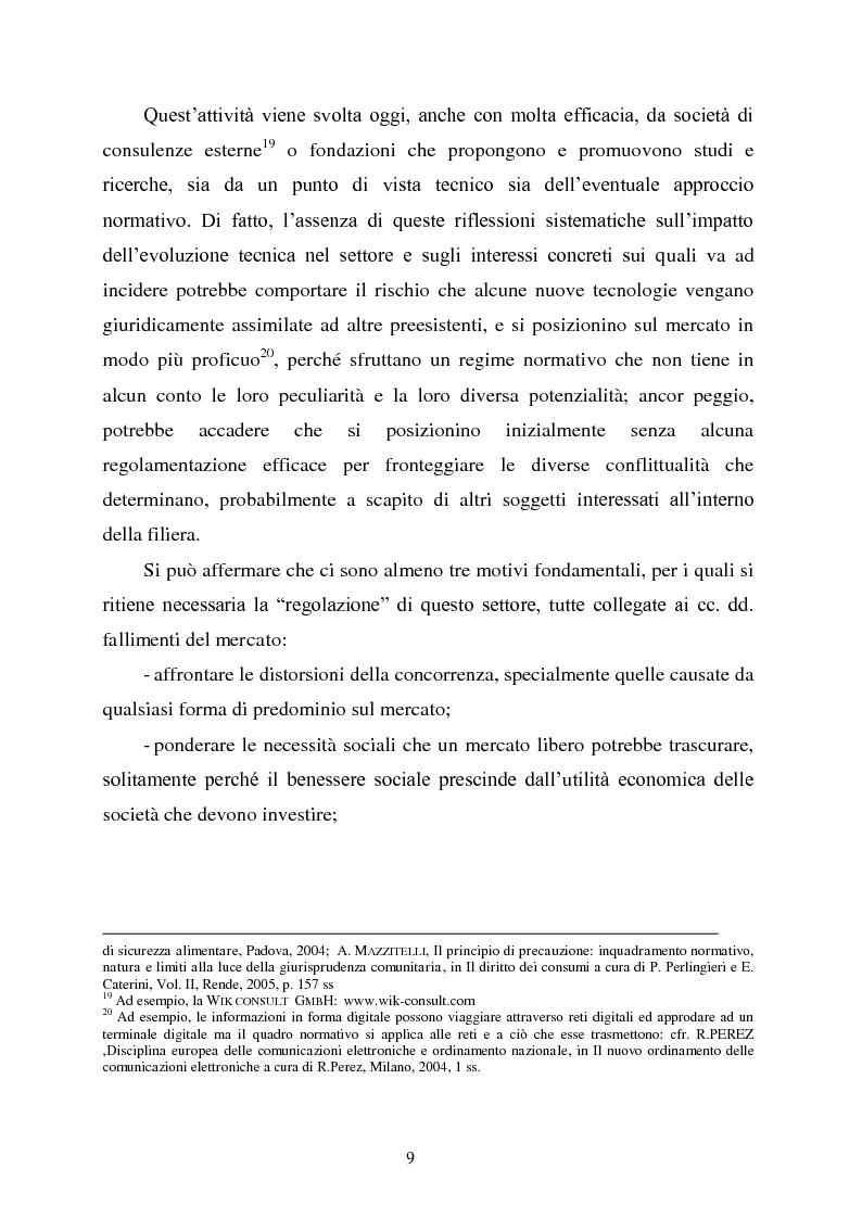 Anteprima della tesi: Innovazione e concorrenza nei mercati delle telecomunicazioni. La separazione delle reti Telecom., Pagina 6