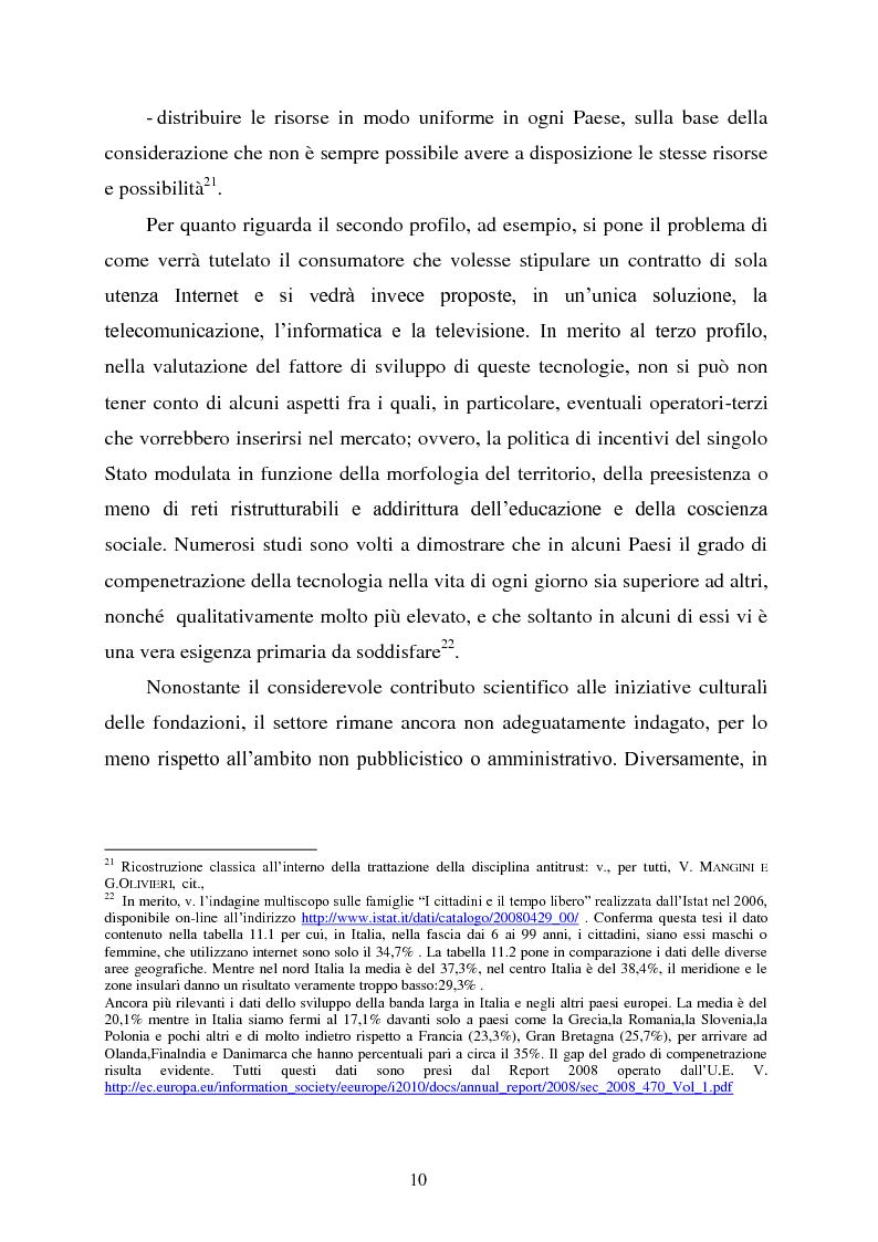 Anteprima della tesi: Innovazione e concorrenza nei mercati delle telecomunicazioni. La separazione delle reti Telecom., Pagina 7