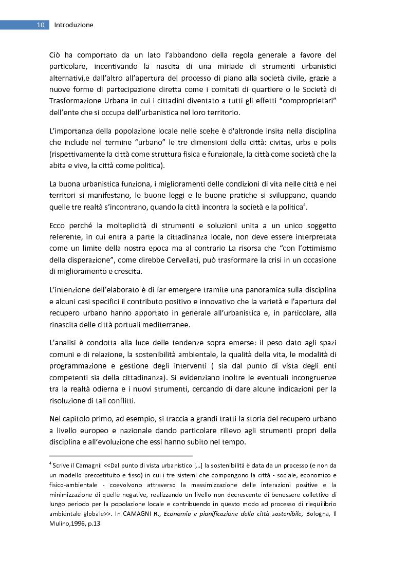 Anteprima della tesi: La trasformazione della città mediterranea. Aspetti innovativi del recupero., Pagina 2