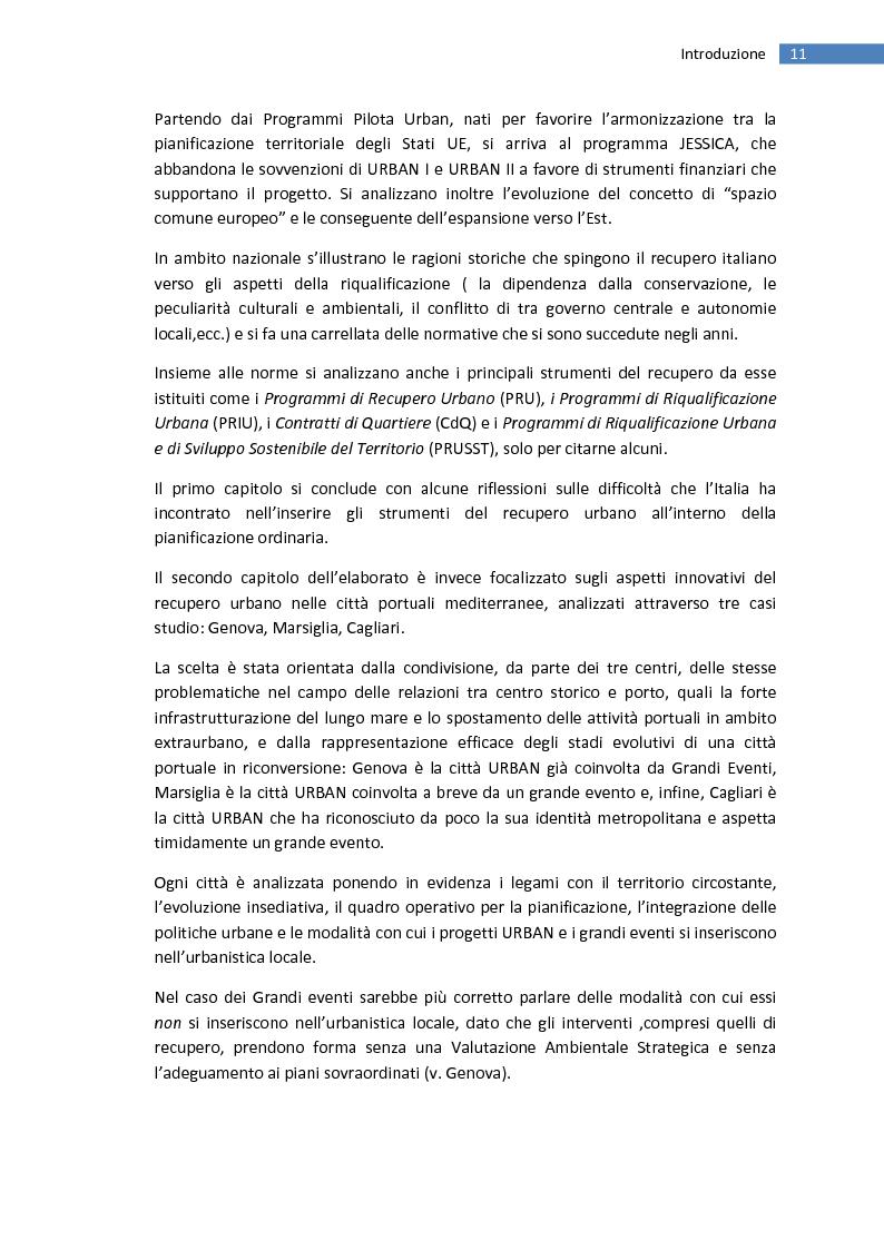 Anteprima della tesi: La trasformazione della città mediterranea. Aspetti innovativi del recupero., Pagina 3